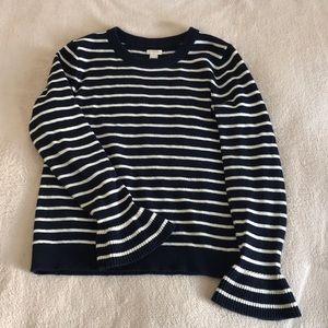 Jcrew bell sleeve sweater